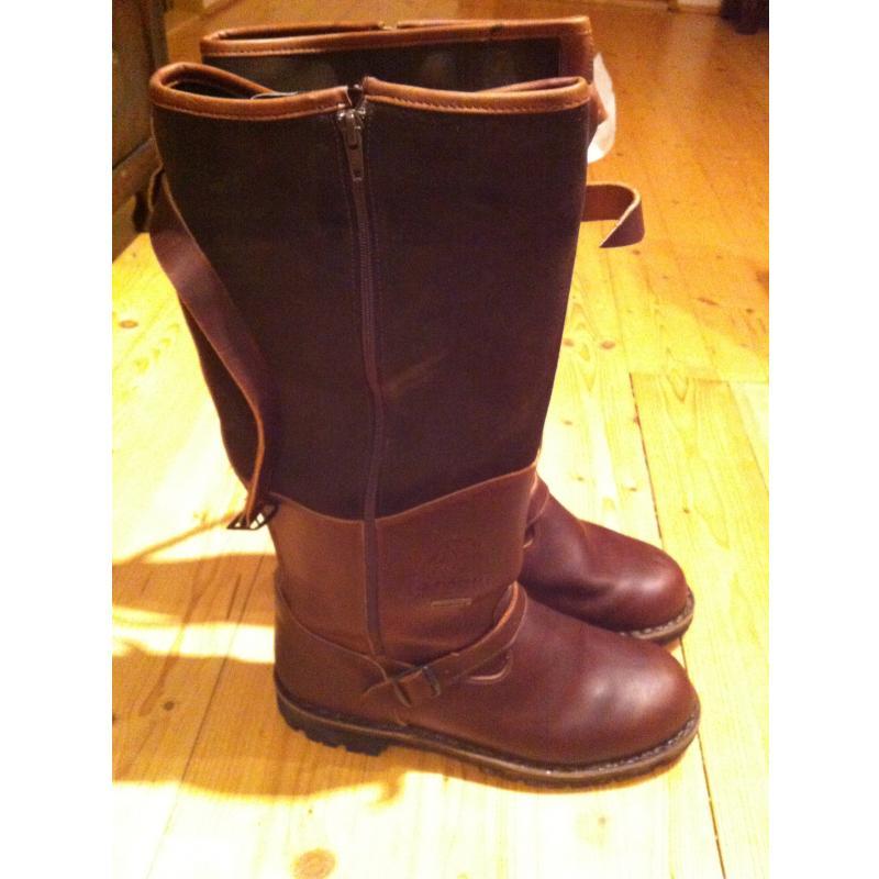 Kožené zimní lovecké boty 0ddbba2361